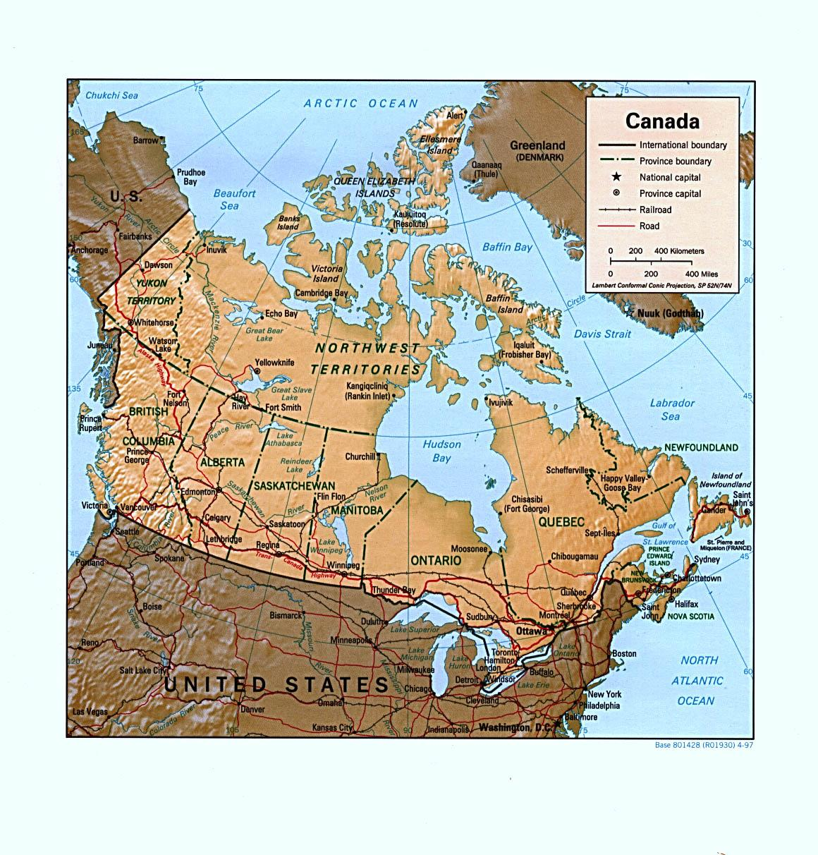 Show Map Of Canada With Its Provinces.Canada Provinces Map With Capitals Show Map Of Canada With Its