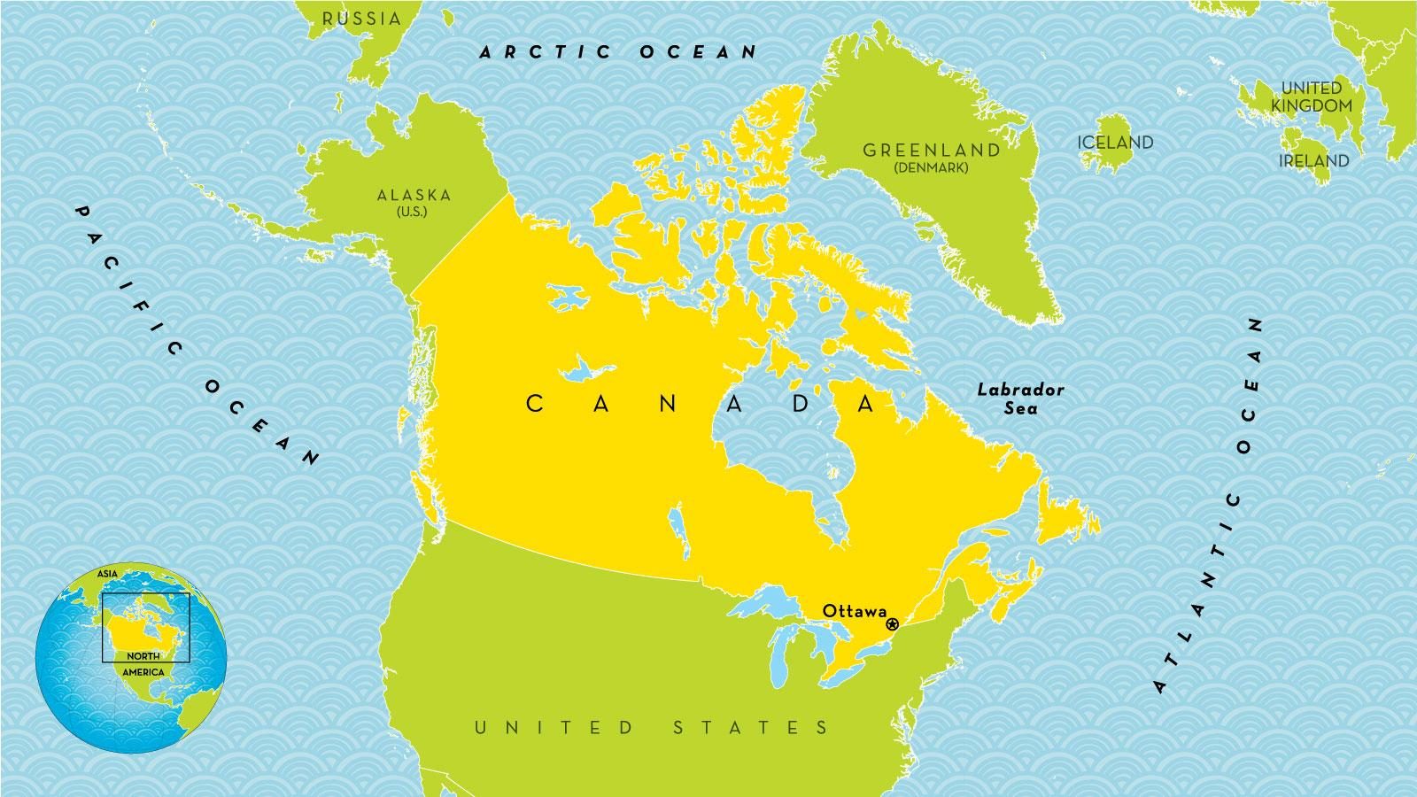 easy map of canada