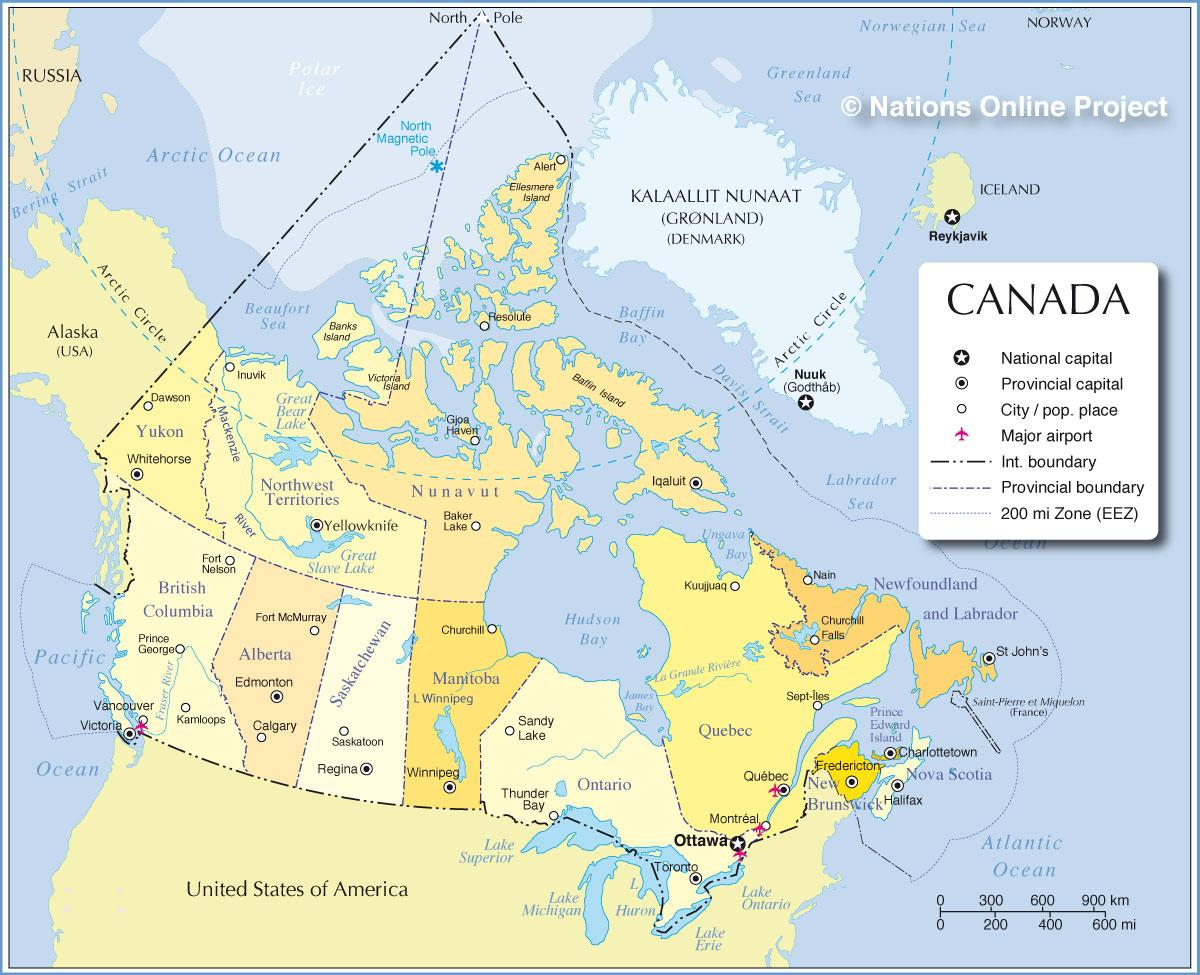Map Of North America And Canada With Cities.Map Of Canada Cities And Provinces Map Of Canada Cities And