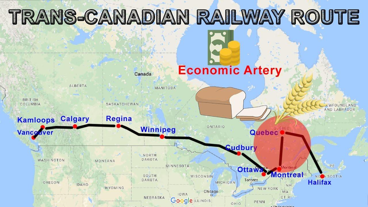 Trans Canada Railway Map Trans Canada railway map   Trans Canada rail route map (Northern