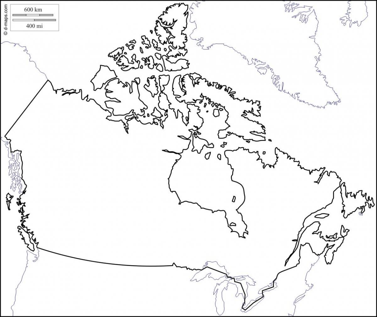 Picture of: Canada Map Outline Blank Outline Map Of Canada Northern America Americas