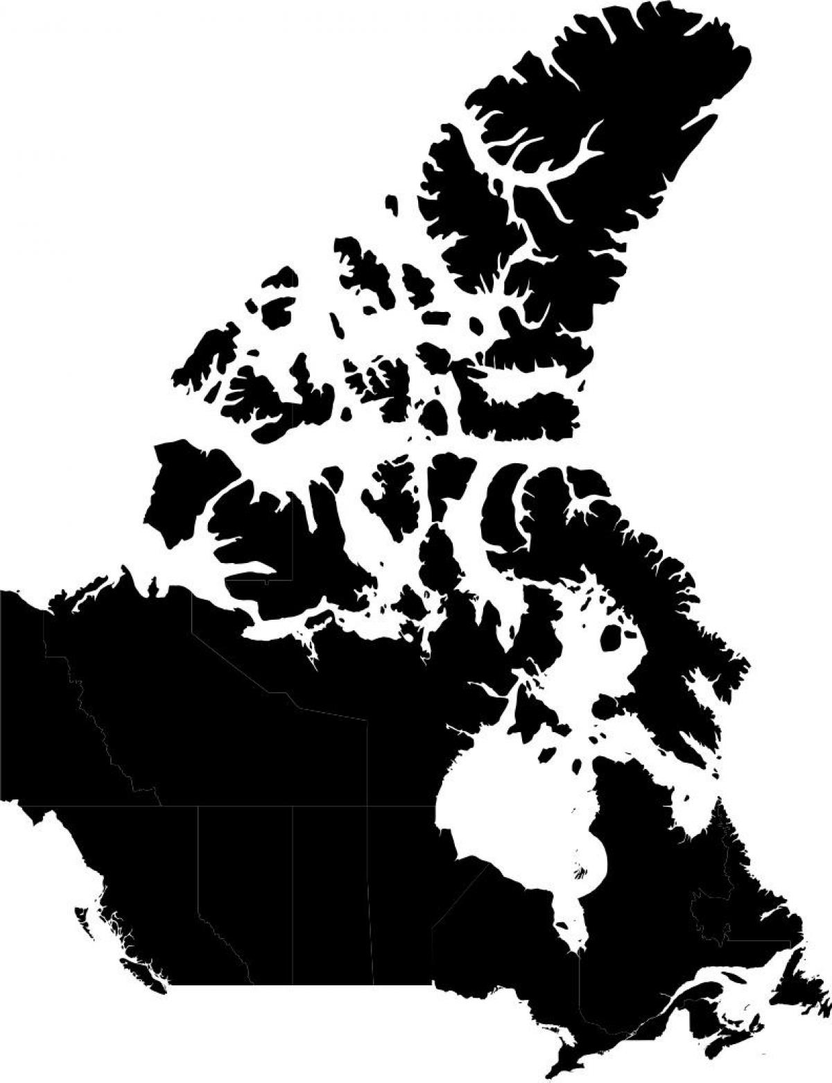 Map Of Canada Silhouette.Canada Map Silhouette Map Of Canada Silhouette Northern America