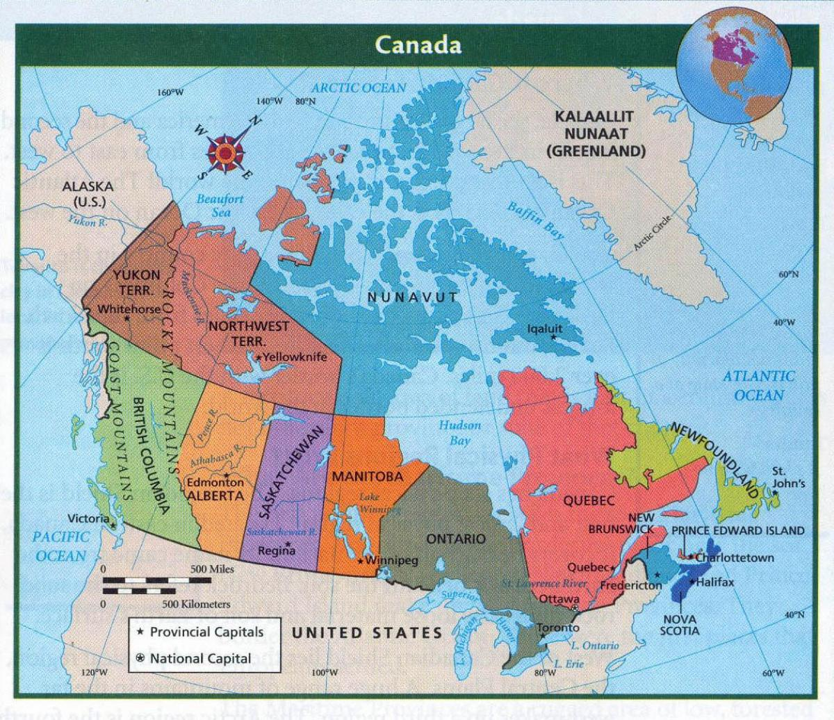 Map of Canada with major cities - Map of Canada and major ...