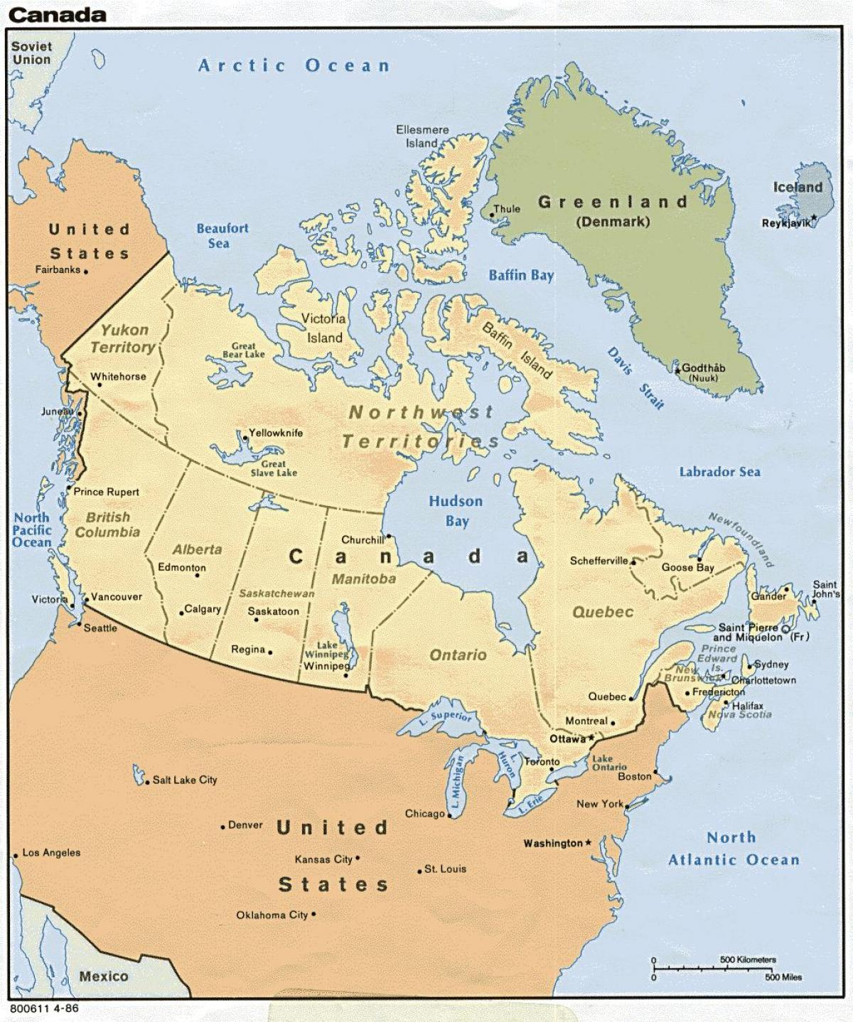official map of Canada