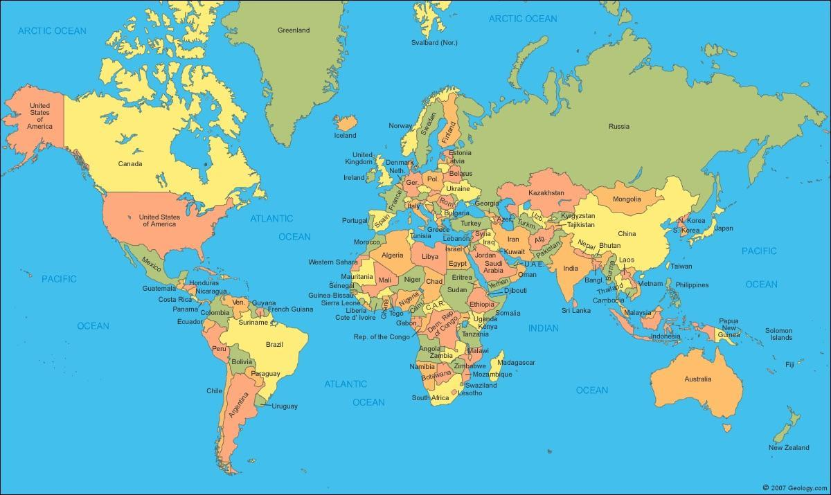 Map Of Canada On World Map.World Map Showing Canada Canada Map In World Map Northern America