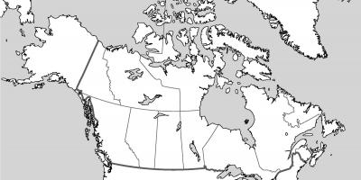 A blank map of Canada