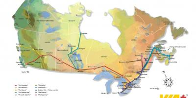 Canada rail network map