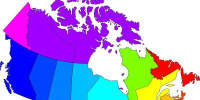 Colored Map Of Canada.Canada Map Maps Canada Northern America Americas